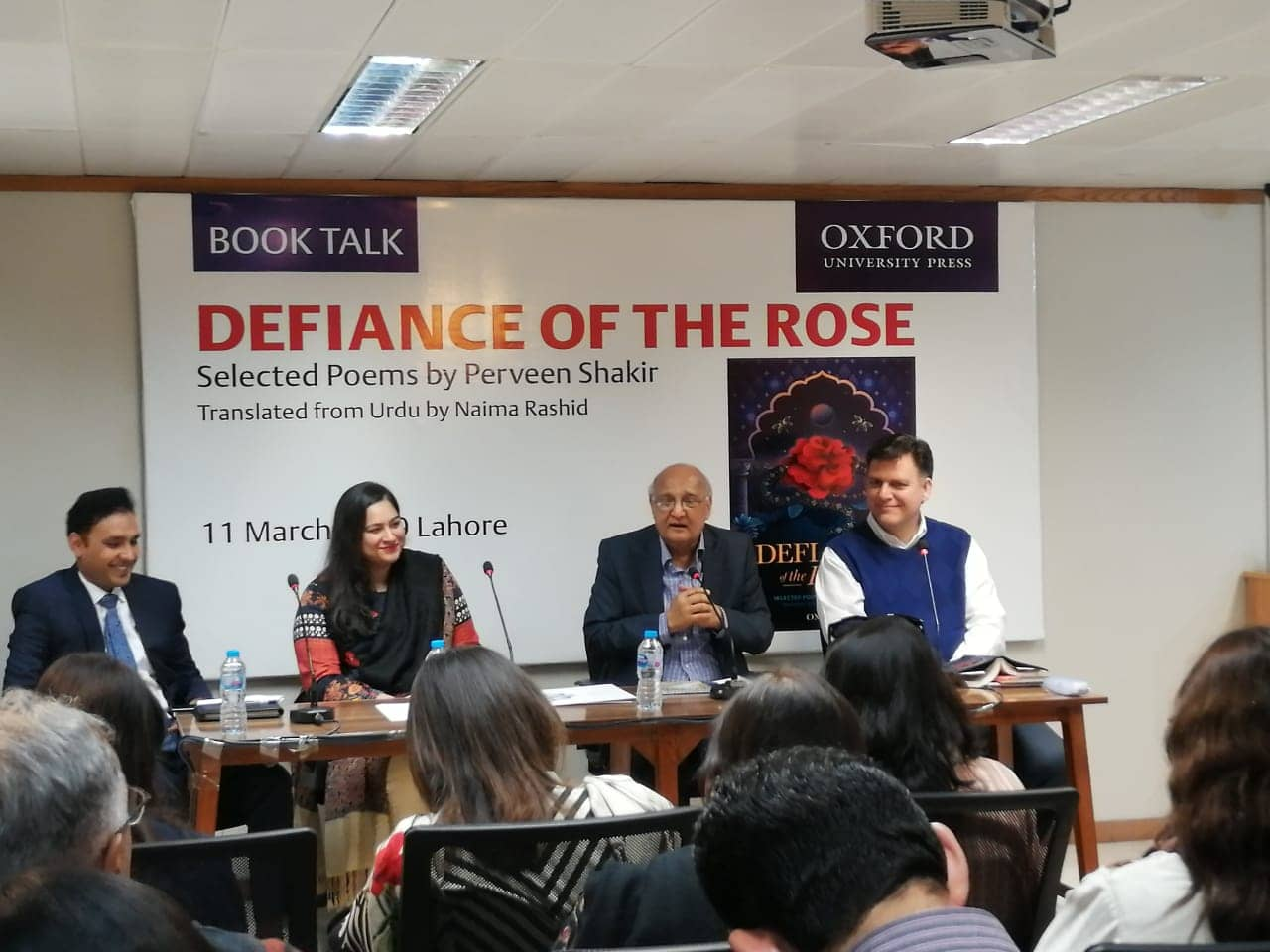 Launch event for Defiance of the Rose, Oxford Bookshop, Lahore