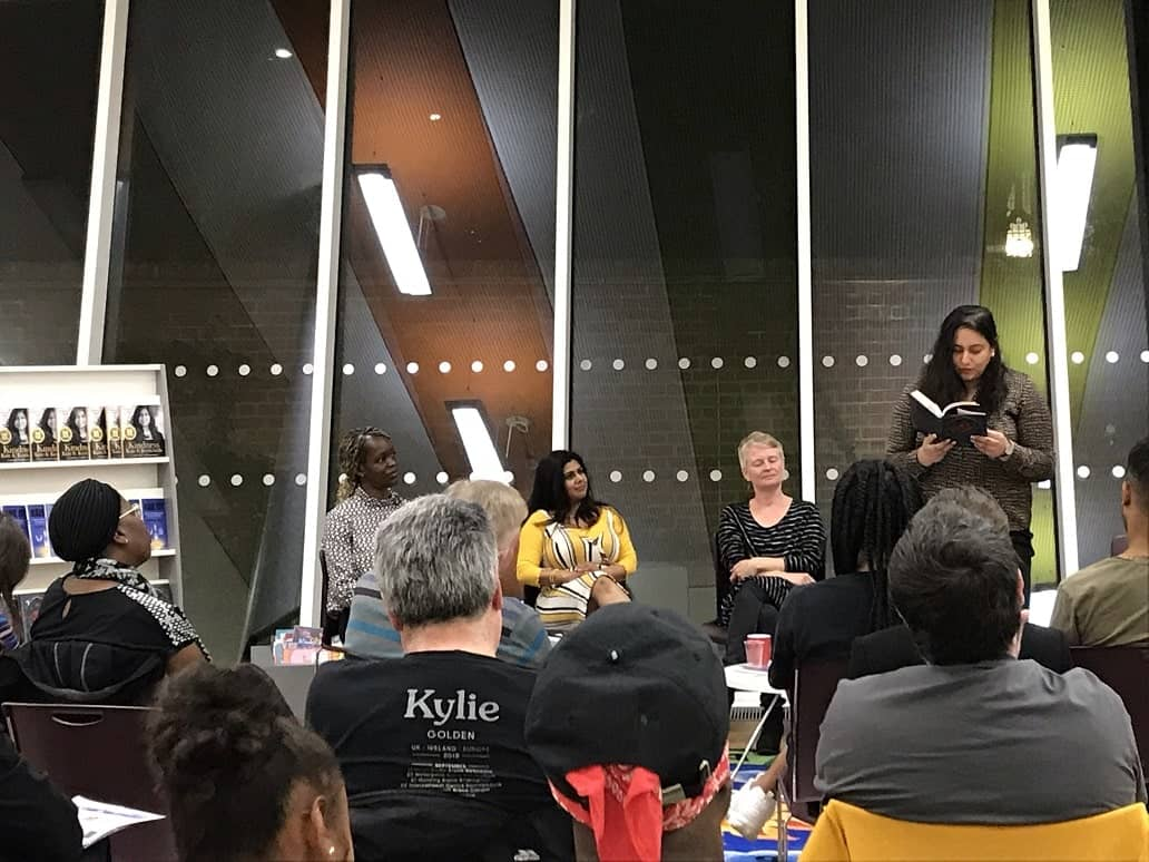 Reading from Defiance of the Rose at multi-author event at The Curve