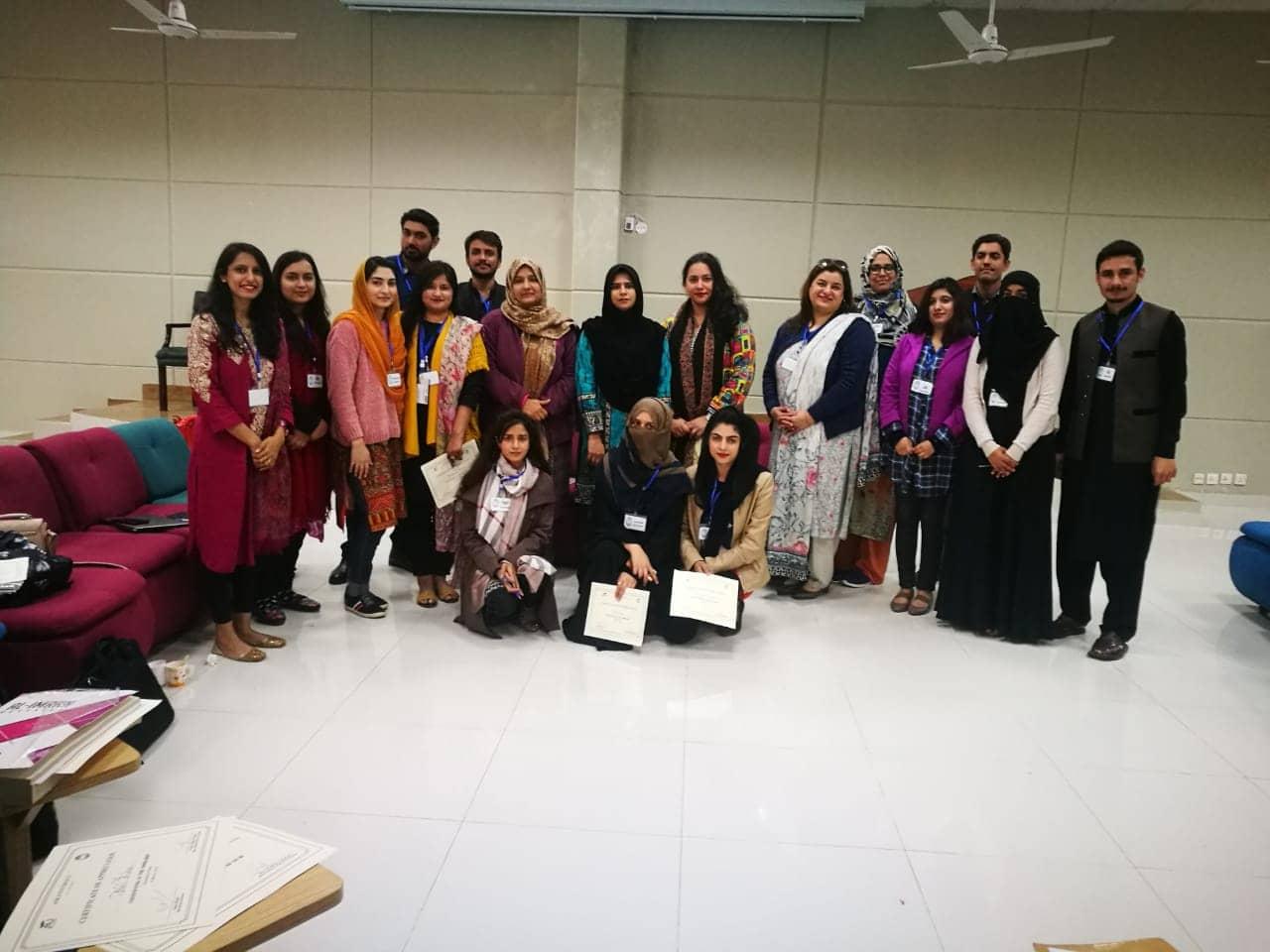 Participants at poetry translation workshop, Habib University Islamabad