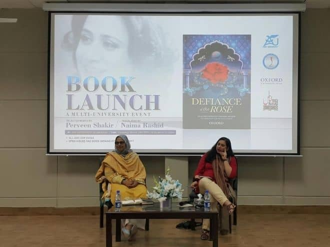 Launch of Defiance of the Rose at Air University, Islamabad