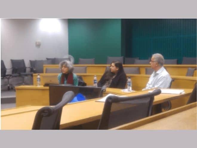 Discussion on Perveen Shakir at LSE. Amina Yaqin, Naima Rashid, Adnan Khan