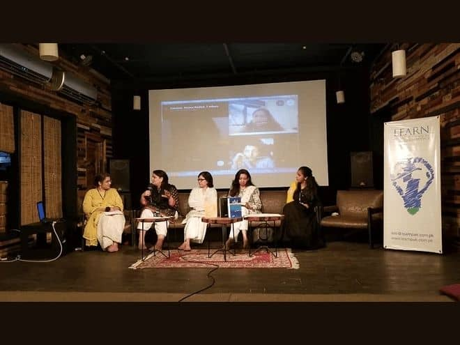"""Scene of event """"Women and Writing"""" organized by LEARN PK and Olomopolo Media"""