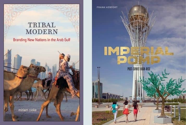 Book covers of Tribal Modern by Miriam Cooke and Imperial Pomp by Frank Herfort
